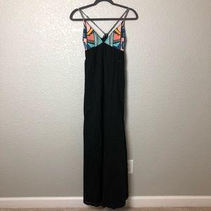 O'Neill Embroidered Boho Maxi Dress w/ Tie Back M